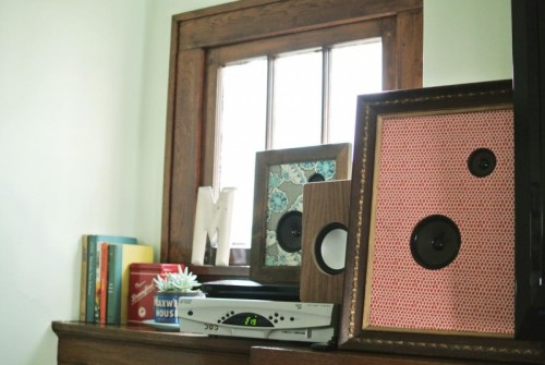 Retro Diy Framed Fabric Speakers