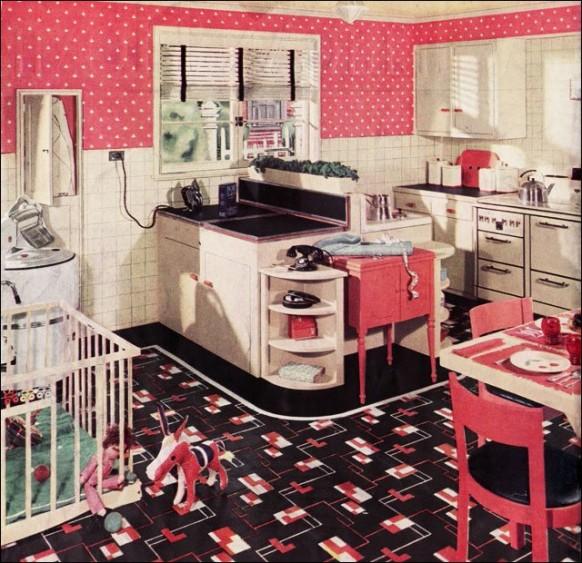 Picture of retro kitchen design ideas for Retro kitchen ideas 1970