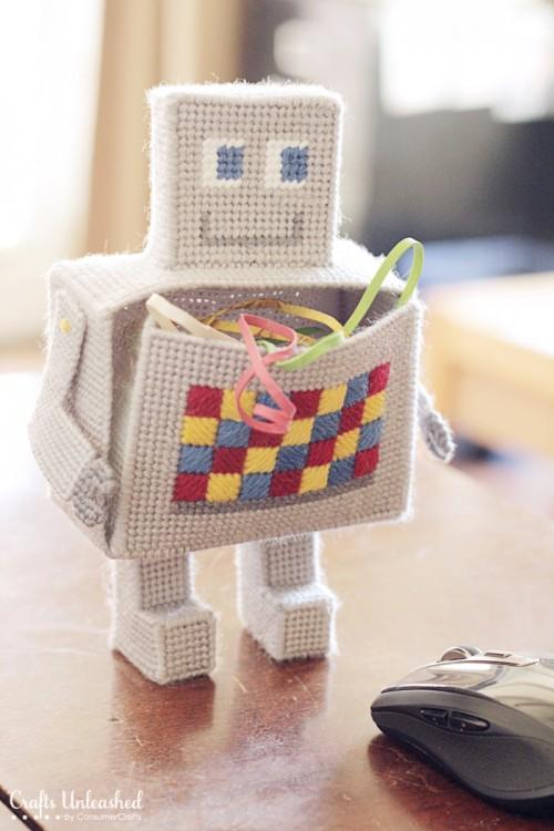 Robot Craft DIY Desk Organizer