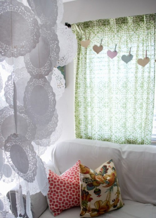 Romantic Diy Doily Chandelier