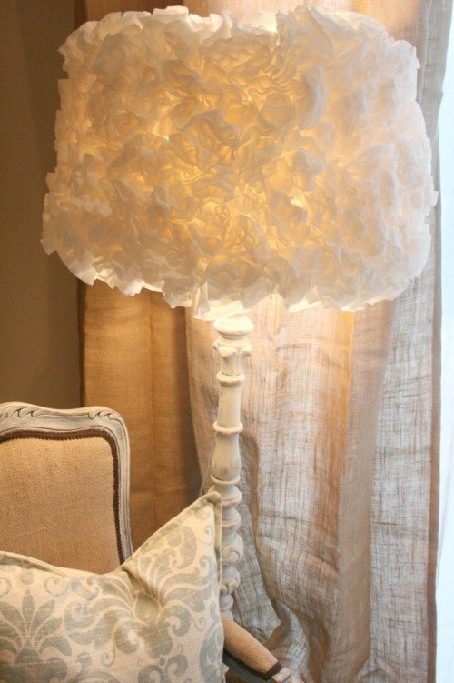 coffee filter flower lampshade