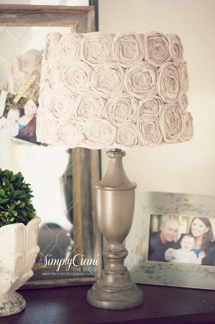 rosette lampshade (via jenniferciani)