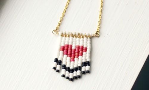 DIY beaded heart necklace