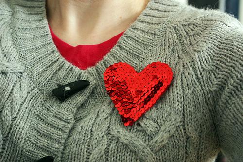 DIY sequin heart