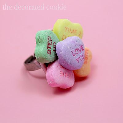 DIY conversation heart jewelry