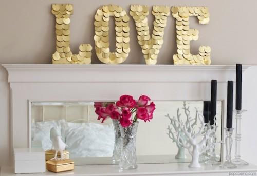 gold discs love sign (via popcosmo)