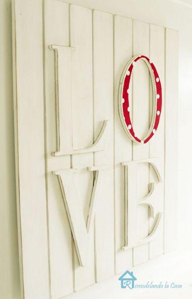 wooden board love  (via hometalk)
