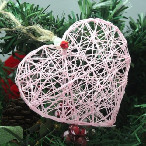 Romantic Diy String Heart Ornament