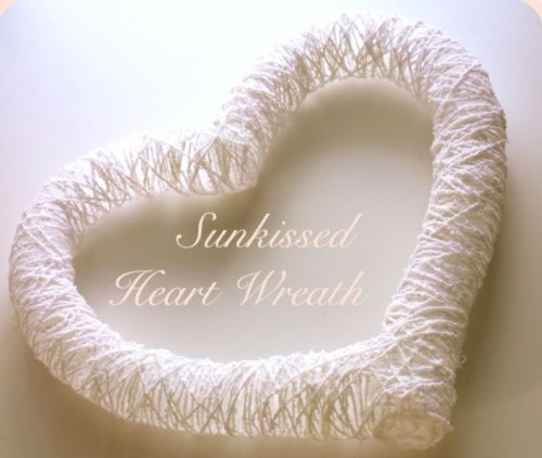 Romantic Heart Wreath For Valentine's Day