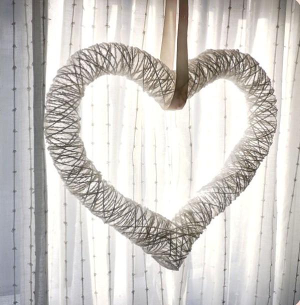 Romantic Heart Wreath For Valentine's Day