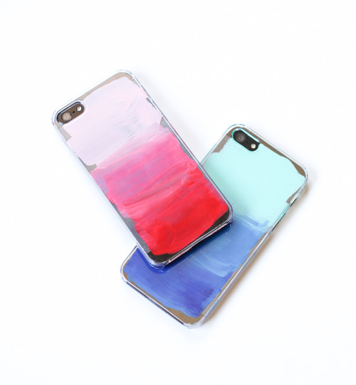 watercolor phone case (via shelterness)