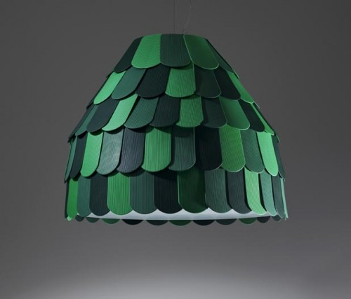 Creative Pendant Lamp Inspired By Roof Tiles