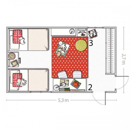 5 room designs for two girls and their layouts shelterness for 4 bedroom layout design