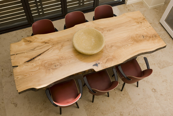Rough Reclaimed Wood Dining Table
