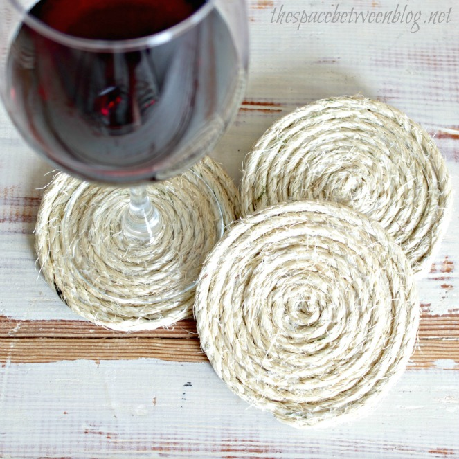 sisal rope coasters