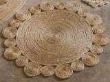 rug of jute and sisal rope