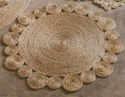 rug of jute and sisal rope (via shelterness)