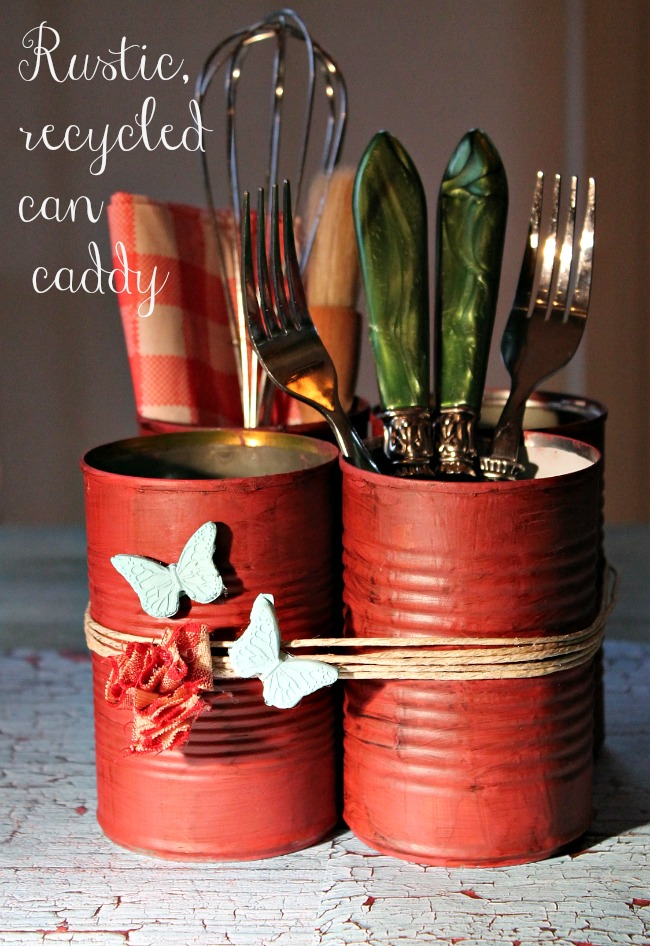 14 Rustic Crafts For Your Kitchen Décor » can utensil holders (via ...