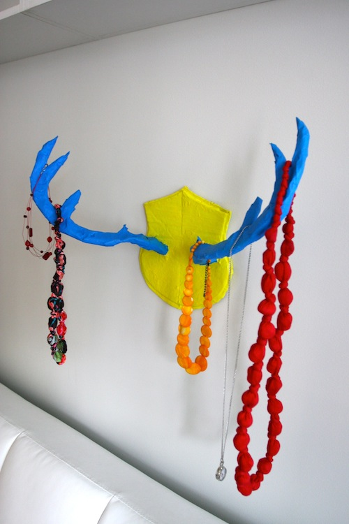 colorful antler rack (via welcometoprojectville)