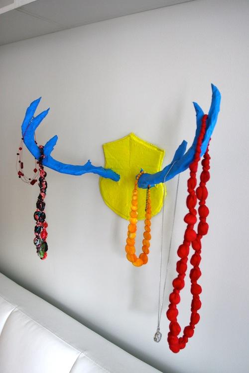 colorful antler rack (via welcometoprojectville)
