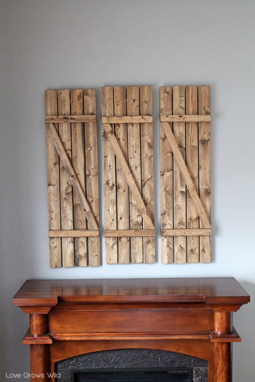 Rustic Diy Barn Wood Shutters