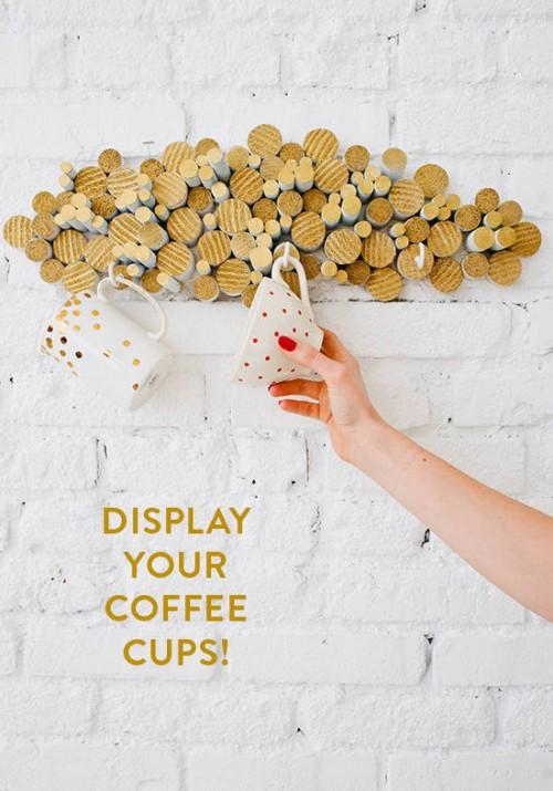 Rustic Diy Coffee Cup Holder