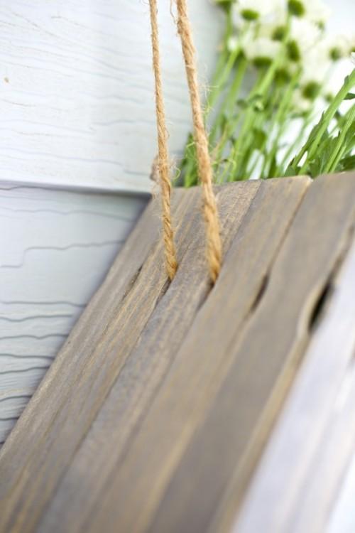 Rustic Diy Hanging Flower Box