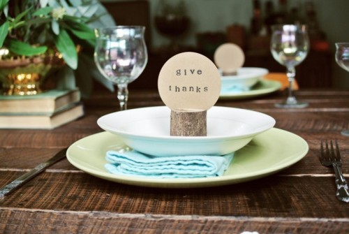 Rustic Diy Log Placeholders