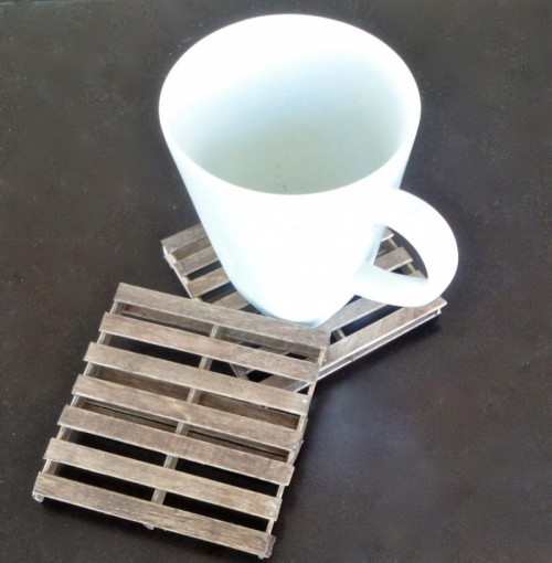 Rustic Diy Mini Pallet Coasters