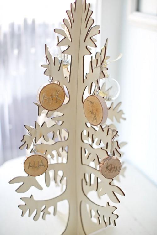 Rustic Diy Ornaments Of Wood Discs