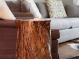 easy tree stump table