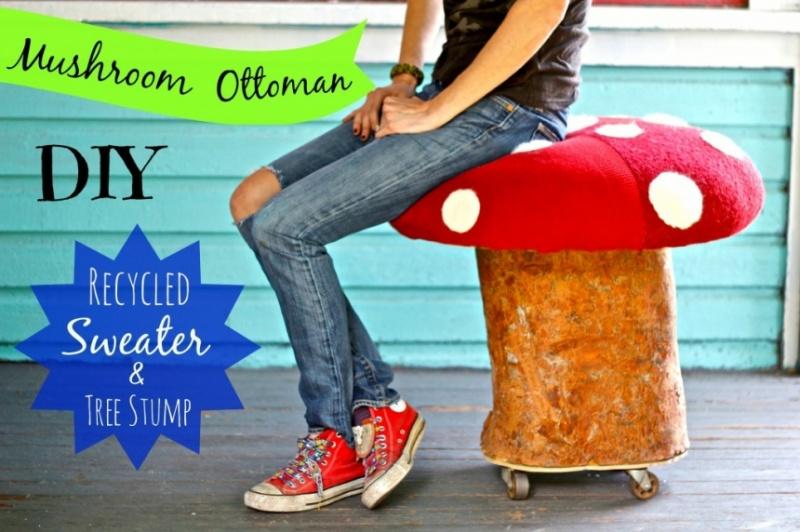 mushroom ottoman of stumps