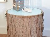 painted tree stump