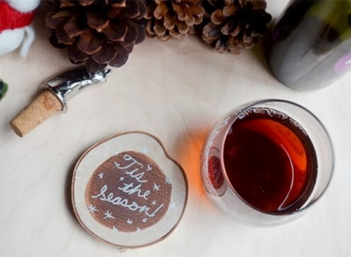 Rustic DIY Winter-Inspired Coasters