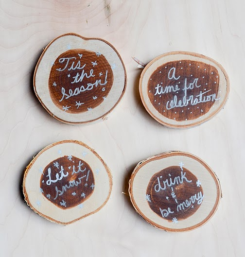 Rustic Diy Winter Inspired Coasters