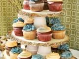Rustic Diy Woodsy Cupcake Stand