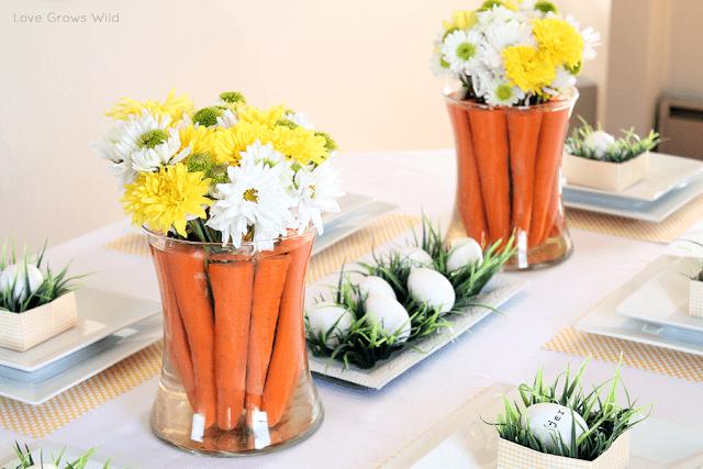 Easter carrot centerpiece
