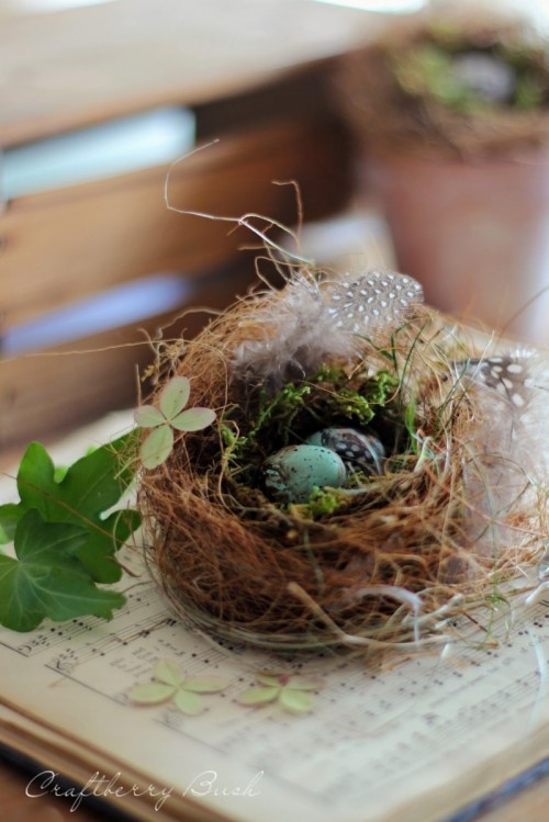 realistic bird nest (via craftberrybush)