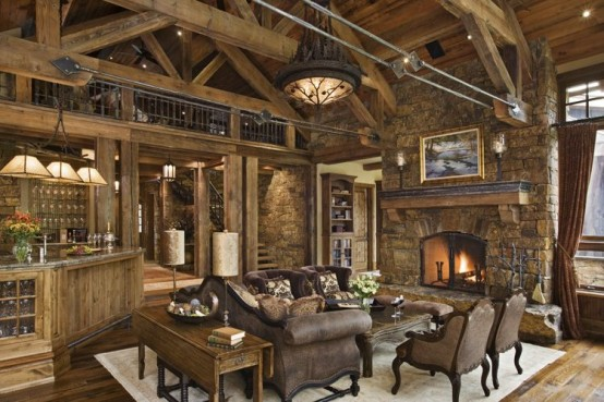 rustic living room design ideas shelterness