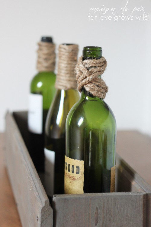 twine wrapped bottles (via lovegrowswild)