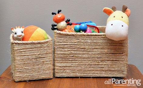 twine wrapped storage boxes (via allparenting)