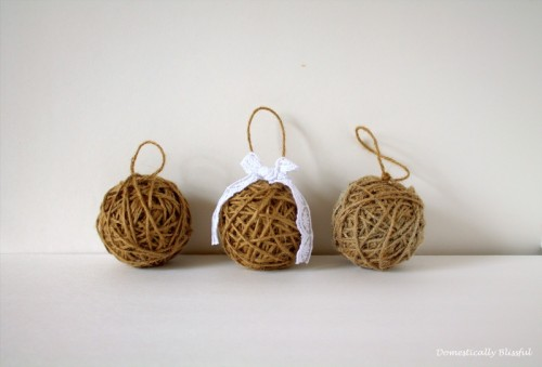 twine ornaments (via domesticallyblissful)