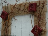 vintage-styled fall wreath