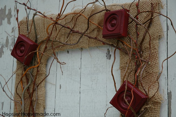 vintage styled fall wreath