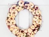yummy-looking dry apple wreath