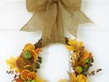 fall gifts door wreath