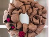 rosebud and leaf embellished wreath
