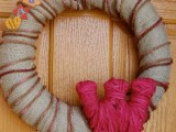 rustic monogrammed wreath