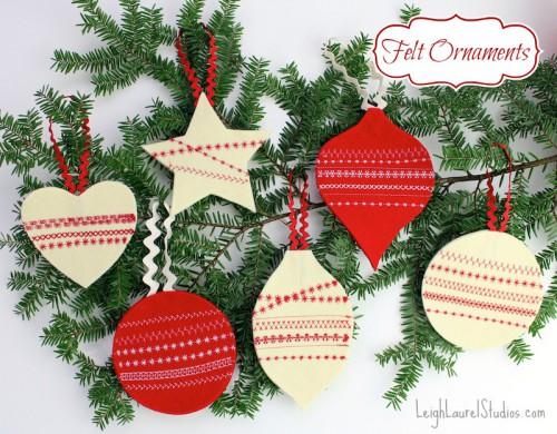 traditional felt ornaments (via leighlaurelstudios)