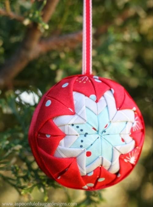 fabric star ornament